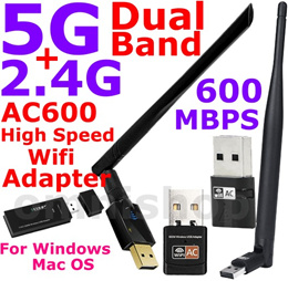 AC600 2.4G 5G Dual Band Wireless USB Wifi Adapter dongle repeater Mini AC 600 portable Free Warranty