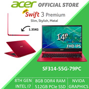 Acer Swift 3 Premium SF314-55G-79PC 14-Inch 8th Gen Intel i7 with Graphics Laptop