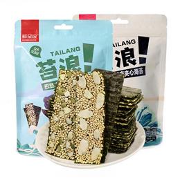 [SG CHEAPEST] Xian Dai Zhe Almond Flavour and Pumpkin Wood Sandwich Seaweed Chips 40g
