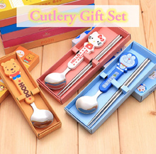 💖 Hello Kitty Doraemon Pooh Cutlery GIft Set 💖 Goodie Bag Office Kitchen Present Gifts 💖