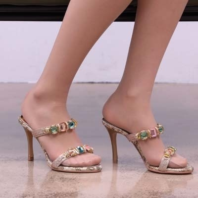 7408c319514383 Qoo10 -  9cm heel  jewel sandals sexy heels   Shoes
