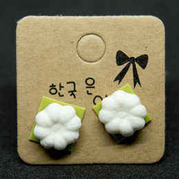 Handmade clay earrings - Kueh TuTu