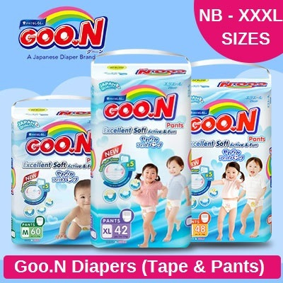 ?Goo.N Penjualan Popok Karton? ? Pita / Celana Deals for only Rp510.500 instead of Rp729.286