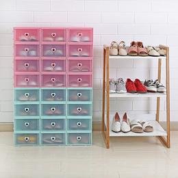 透明可视鞋盒加厚防潮鞋盒子 家用宿舍鞋柜防尘鞋子收纳盒