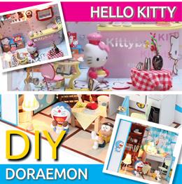 【Totoro Doraemon Hello Kitty UPDATED Jan18】 Miniature DIY doll house ★ mini home ★ cartoon inspired