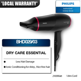 Philips DryCare Essential Energy Efficient Hair Dryer - BHD029/03 with 2 years warranty