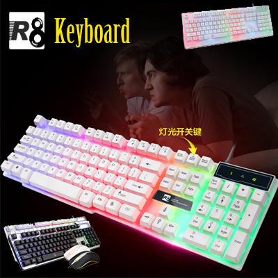 64e91bd1ab5 【R8 Series Glowing Keyboard】Mechanical Feel Light USB Cable Games Desktop  PC CF LOL
