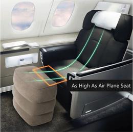 💖 INFLATABLE Travel Leg Rest Foot Rest Airplane Aeroplane Comfort 💖 Pillow Cushion Flight Car