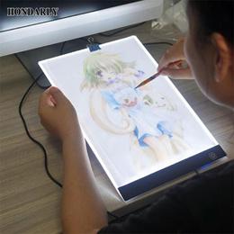 A4 LED Artist Thin Art Stencil Board Light Box Tracing Drawing Board / Digital Graphic Tablet