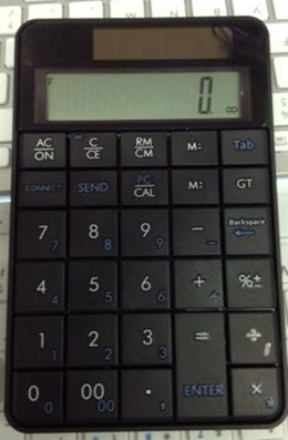 Packet Wireless digital keypad notebook computer USB numeric keypad Calculator Two