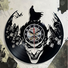 NEW! BATMAN Joker WALL CLOCK Black Classic Old Vinyl Record Retro