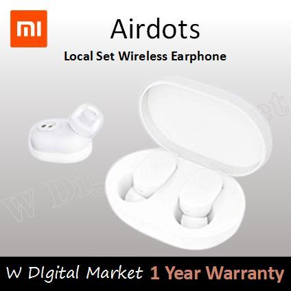 Local 1 Year Warranty Xiaomi AirDots Bluetooth Earphone Youth Version stereo Bass BT 5.0 Headphone Deals for only S$159 instead of S$159