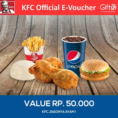 [FOOD] Value Voucher 50K /KFC Deals for only Rp47.000 instead of Rp47.000