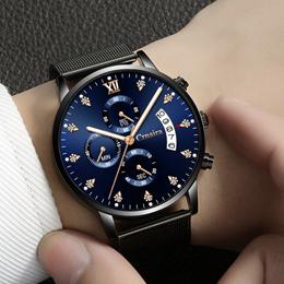 2018 New Diamond Multifunctional Waterproof Quartz Watch
