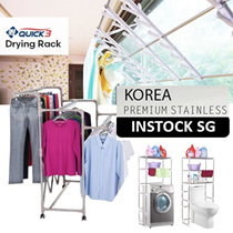 [ Stainless Steel]★★INSTOCK 5FT Deluxe Korea adjustable clothes rack ★Easy Assemble ★ Designs