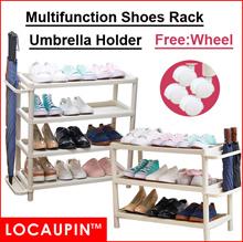 Locaupin Home Shoes Rack Umbrella Holder