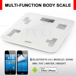 Smart *Bluetooth Body Health Weighing Scale* / Multi-Function in Weight|Muscle|Bone|BMI|Fat|Water Automatic Record to Smart Phone *Health Monitor*