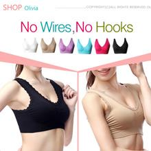 [Olivia]★Genie Bra/S-XXXL SIZE/1Set 3pcs  /FREE GIFT/3 style 3 colors set/