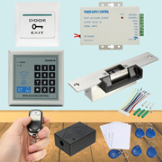 125KHz RFID ID Keyfobs One-Door Access Control Machine Kit  Electric Strike Lock for Offices/Factori