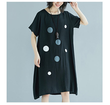 Plus Size L-2XL Korea Pokka Dot Fashion Ladies Dress YB0953