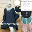 Atasan hijab blouse tunik long dress model terbaru