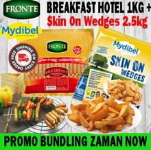 HOT PROMO BUNDLING Sosis Fronte Breakfast Hotel 1KG+Skin On Wedges 2.5kg  FREE SHIPPING JABODETABEK