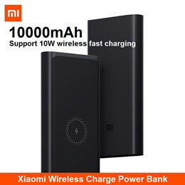 Xiaomi Mi 10000mAh Wireless Charge Power Bank Charger Powerbank Portable 10W Fast Charging