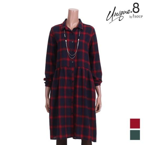 森SOUPデイリーチェックワンピースSTJOP26 面ワンピース/ 韓国ファッション