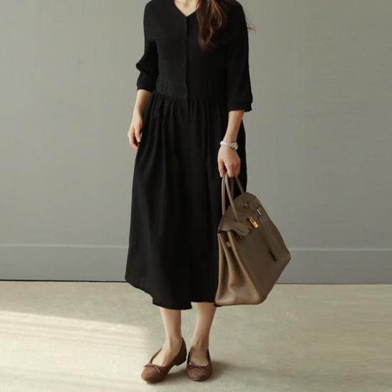 ビナインブルラディワンピース 綿ワンピース/ 韓国ファッション