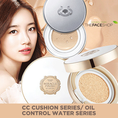 [The Face Shop] CC Cushion Series/ Oil Control Water Series Deals for only Rp139.900 instead of Rp139.900