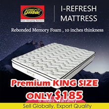 【Goodnite】 I-Refresh 10 inches Plush Top Rebonded Foam Mattress Single/Super Single/Queen/King