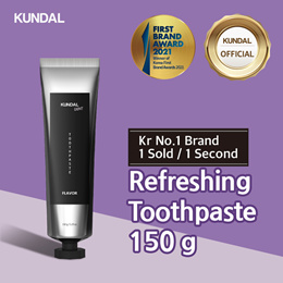 [KUNDAL] Pure Refreshing Toothpaste 150g✨Kr No.1 Brand✨⭐1 sold in EVERY 3 Seconds⭐