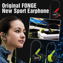 Original FONGE New Sport Earphone Bass Over Ear Design Headset