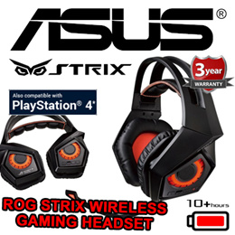 ASUS ROG Strix Wireless Gaming Headset / 10+ Hour Battery Life / Compatible with Playstation 4