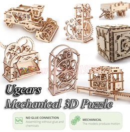 ★Top 10 Most Wanted Toy★ Ugears Mechanical 3D Puzzle Self Moving Propelled Construction Kit Model