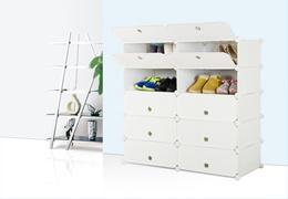 5-Tier DIY Shoe Storage Cabinet Set of Two