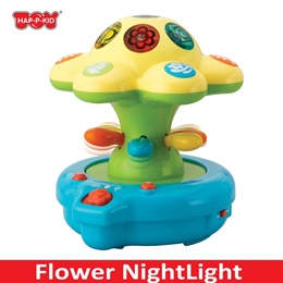 HAP-P-KID Flower Nightlight [Lovely pattern projector][Turn around with classical music]