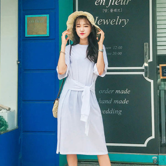 あっかんべーショップ小売OPS 綿ワンピース/ 韓国ファッション
