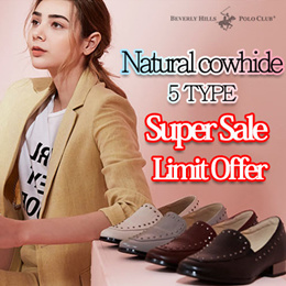 [POLO CLUB] 26Type women Cowhide loafers / Broadcasting goods shoes /