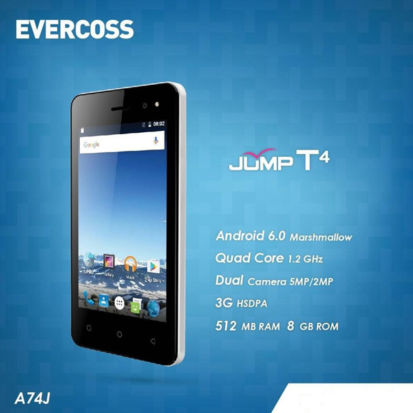 Evercoss A74J JUMP T4 Deals for only Rp529.000 instead of Rp529.000
