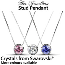 Embellished with Crystals from Swarovski® - Her Jewellery Stud Pendant