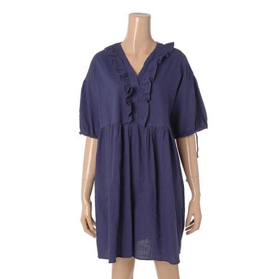 パパイヤ小売リボン綿ワンピースCNHROP906B 面ワンピース/ 韓国ファッション