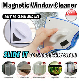 Magnetic Double Faced Window Glass Cleaner★Effortless n Safe Cleaning Tool ★Clean Wiper Dust Sands