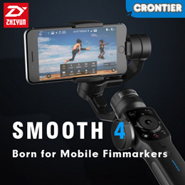 2018 ZHIYUN Smooth 4 Gimbal★New☆3-Axis Handheld Gimbal Stabilizer☆With Focus/Zoon Whe