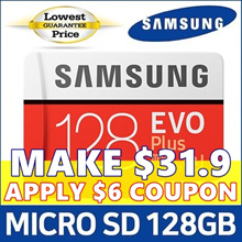 [MAKE $31.9] ★SAMSUNG Micro SD Card EVO PLUS 128GB With SD Adapter ★ U3 Class10 / Micro SDXC Memory