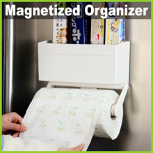 ★ Magnetized Fridge Organizer + Roll Dispenser ★ Useful Multi-Functional Kitchen Storage Holder