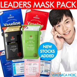 [LEADERS MASK SHEETS]★Mediu Amino★Insolution Skin Clinic★Step Solution Black Mask★100% Authentic★Kor