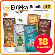 Eureka Popcorn Assorted 18 Flavours   Kimchi Chocolate Caramel Salted Egg Coffee  Bundle of 2 x 140g