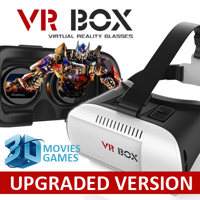★VR Box★Virtual Reality (VR)★3D Glasses★Plastic Google  Cardboard★Head-Mounted★Gear VR★Iphone★Android★Samsung Xiaomi HTC LG
