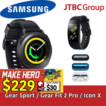 Samsung Gear Sport / Gear Fit 2 Pro / Icon X / SAMSUNG Warranty 1 LOCAL SINGAPORE / READY STOCKS!!!!